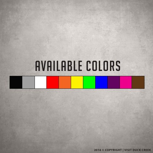 Available Sticker Colors