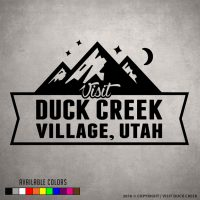 Visit Duck Creek Small Logo Sticker