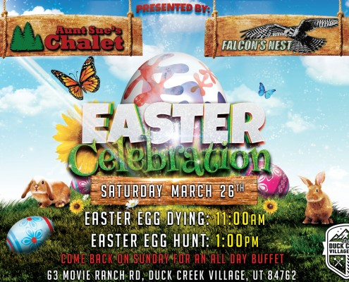 Easter Celebration In Duck Creek Village Utah