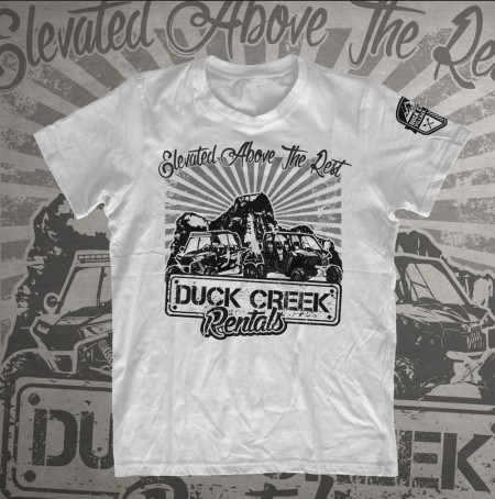 Duck Creek Rentals Tee - White
