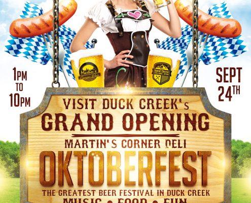 Duck Creek Oktoberfest Festival Poster