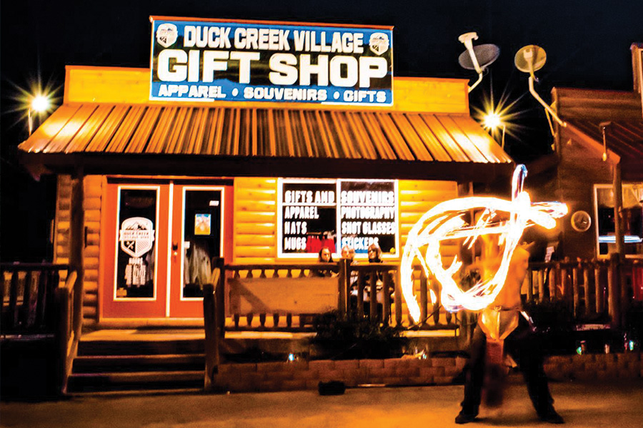 Visit Duck Creek Store with Fire Dancers